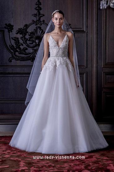 Простое свадебное платье Моник Люлье
