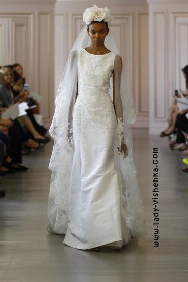 Свадебные платья с рукавами фото Oscar De La Renta