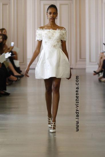 Короткие свадебные платья 2016 Oscar De La Renta