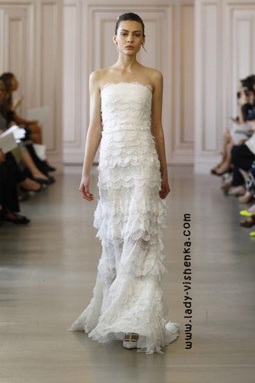 Модные свадебные платья фото Oscar De La Renta