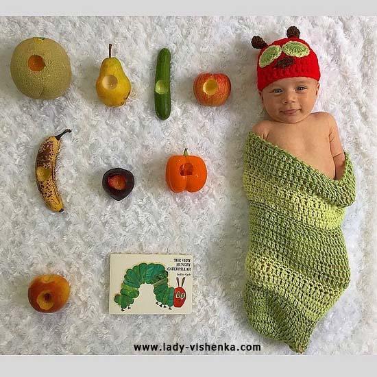 Костюм червяка для малыша