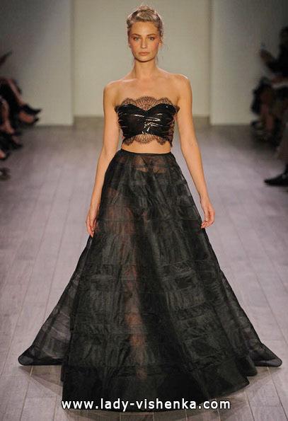 Свадебное платье черного цвета 2016 - Hayley Paige