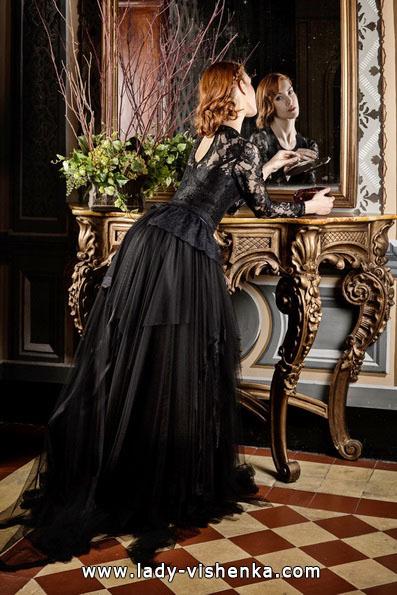 Черное свадебное платье 2016 - Jordi Dalmau