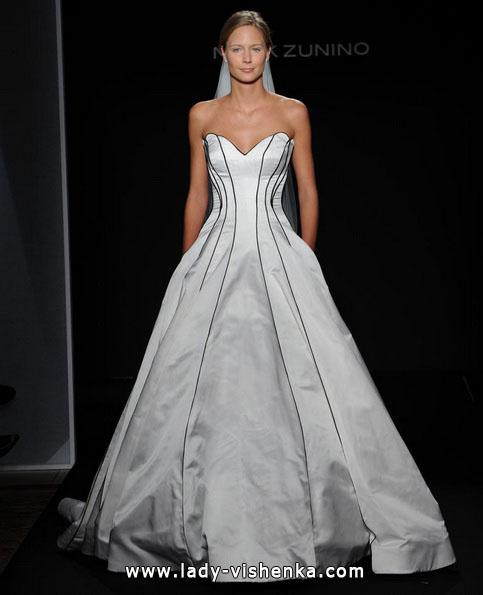 Черно-белое свадебное платье фото - Mark Zunino