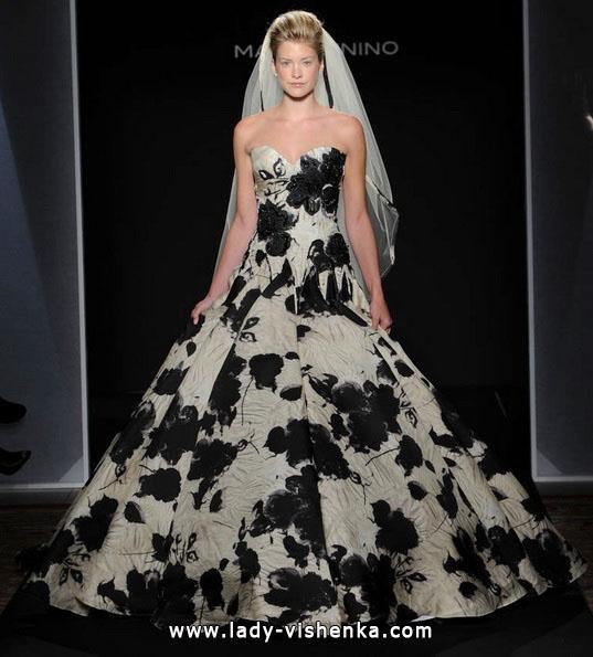 Свадебное платье с черными цветами - Mark Zunino