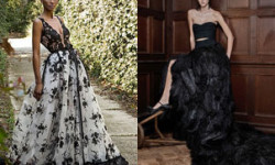 Черное и черно-белое свадебное платье 2016