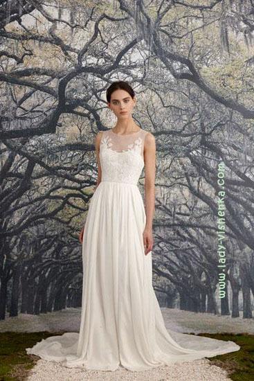 Простое свадебное платье Nicole Miller