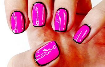 Мультяшный дизайн ногтей
