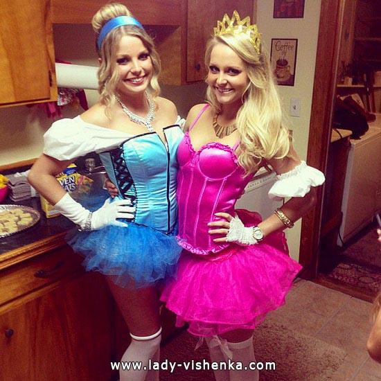 Короткое платье Золушки на Хэллоуин