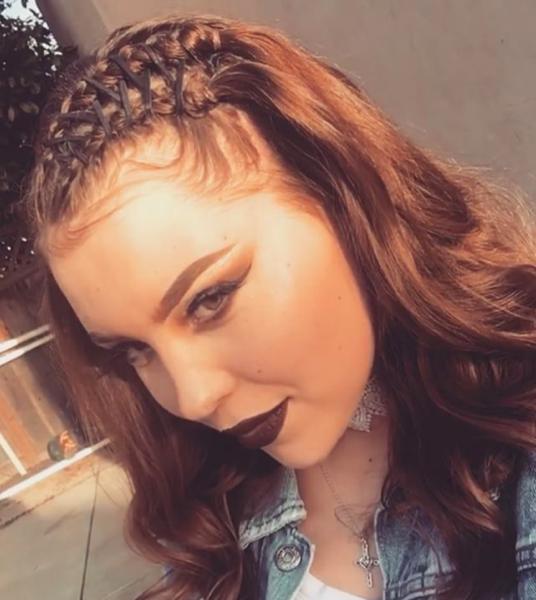 Прическа корсет на средние волосы