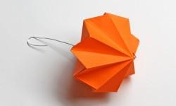 Елочные игрушки из бумаги фото