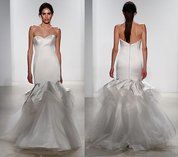 Свадебное платье рыбка - Kelly Faetanini