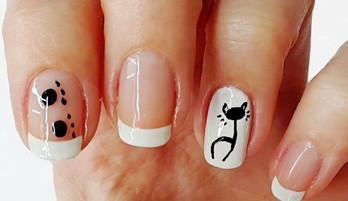 Дизайн ногтей: кошка на ногтях