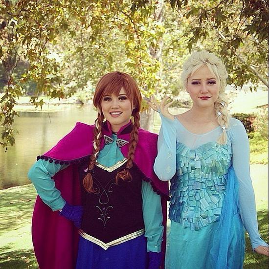 Эльза и Анна - идея костюма на Хэллоуин для девушки