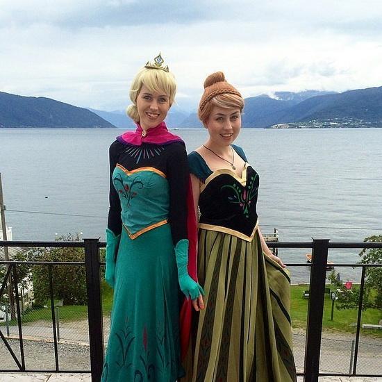 Анна и Эльза - костюм на Хэллоуин для девушки