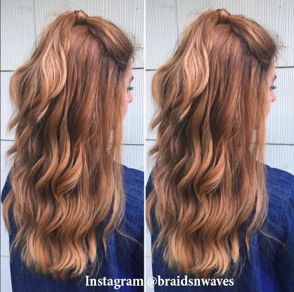 3. Хвостик с распушенными волосами