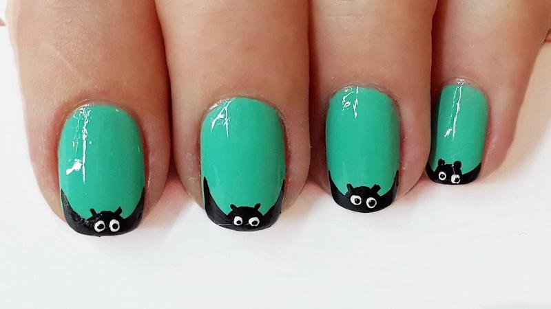 Дизайн ногтей - Летучая мышь