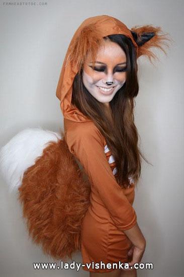 Костюм рыжей кошки на Хэллоуин