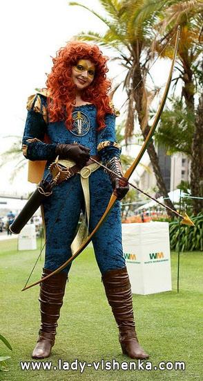 Костюм для рыжих волос на Хэллоуин