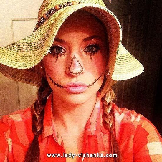 Образы на Хэллоуин для девушек - Пугало