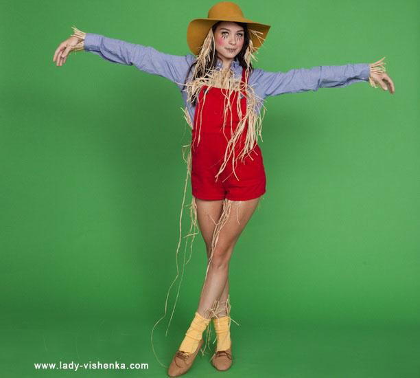 Простой костюм на Хэллоуин - Пугало