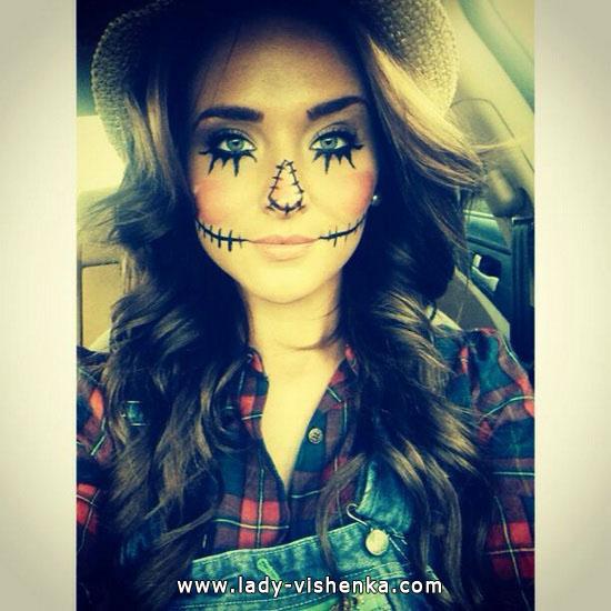 Пугало - образ на Хэллоуин для девушек