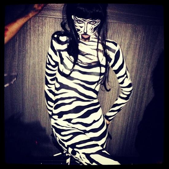 Модель Ginta Lapina на Хэллоуин