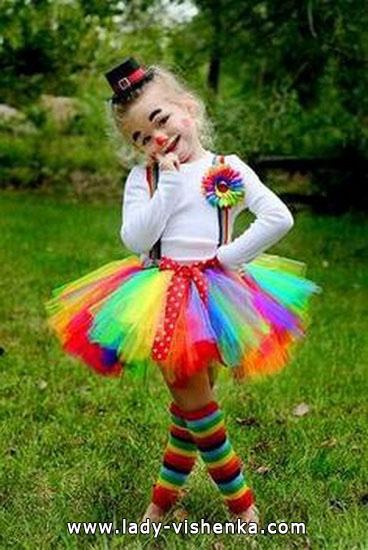Костюм клоуна девочки