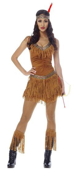 Образ Покахонтас на Хэллоуин - фото