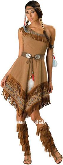 Образ Покахонтас на Хэллоуин