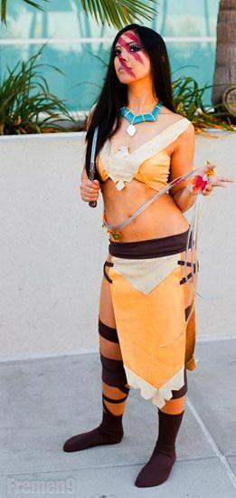 Короткий костюм Покахонтас на Хэллоуин