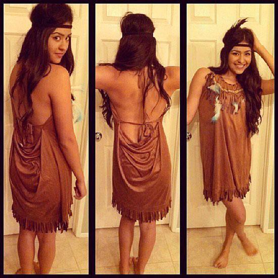 Наряд Покахонтас на Хэллоуин своими руками