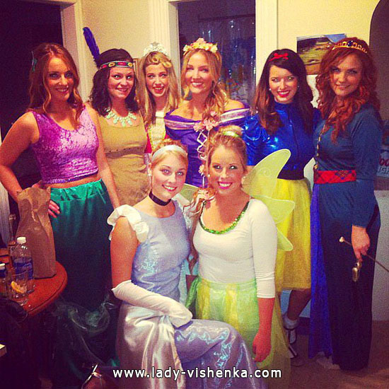 Идеи костюма на Хэллоуин для девушек - Диснеевская принцесса