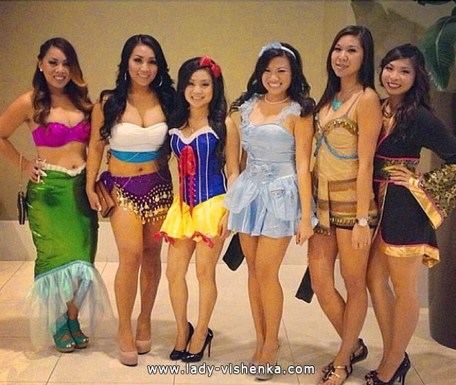 Платья на Хэллоуин - Диснеевские принцессы