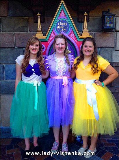 Платья на Хэллоуин своими руками - Диснеевские принцессы