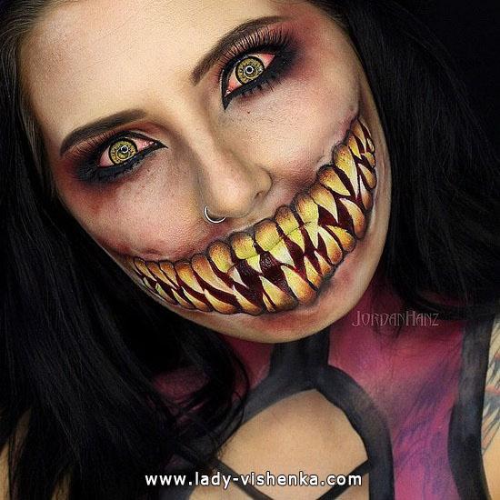Страшный зубастик - грим на Хэллоуин