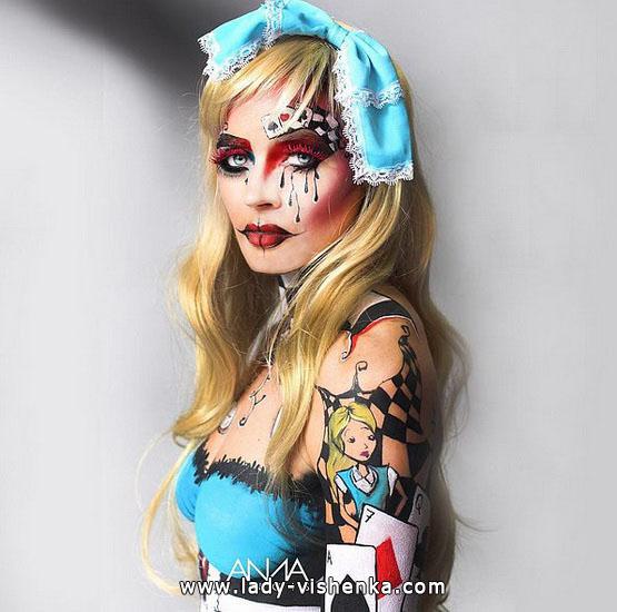 Грим на Хэллоуин - Алиса в стране чудес