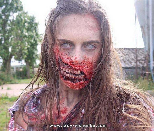 Грим на Хэллоуин - кровавый мертвец