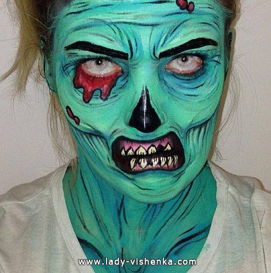 Зеленый мертвец на Хэллоуин