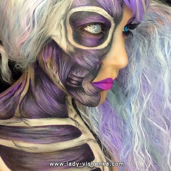 Тело без кожи - Грим на Хэллоуин