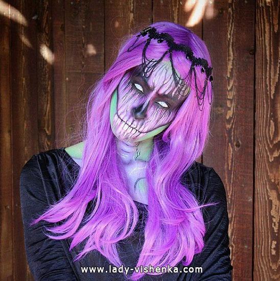 Грим мертвеца на Хэллоуин