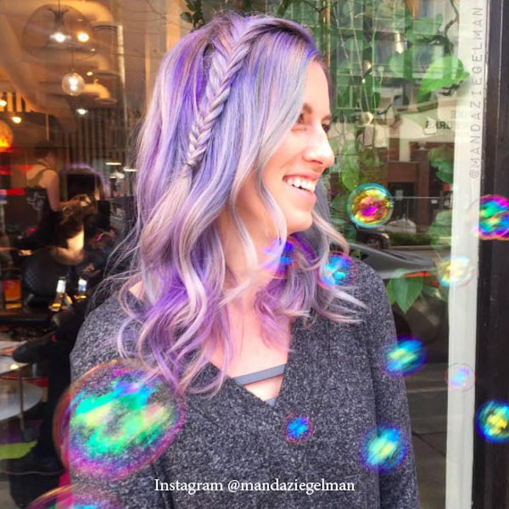 Окрашивание волос стеклом