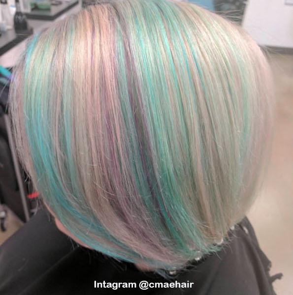 9. Голографические волосы