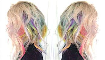 Голографические волосы — необычный цвет волос