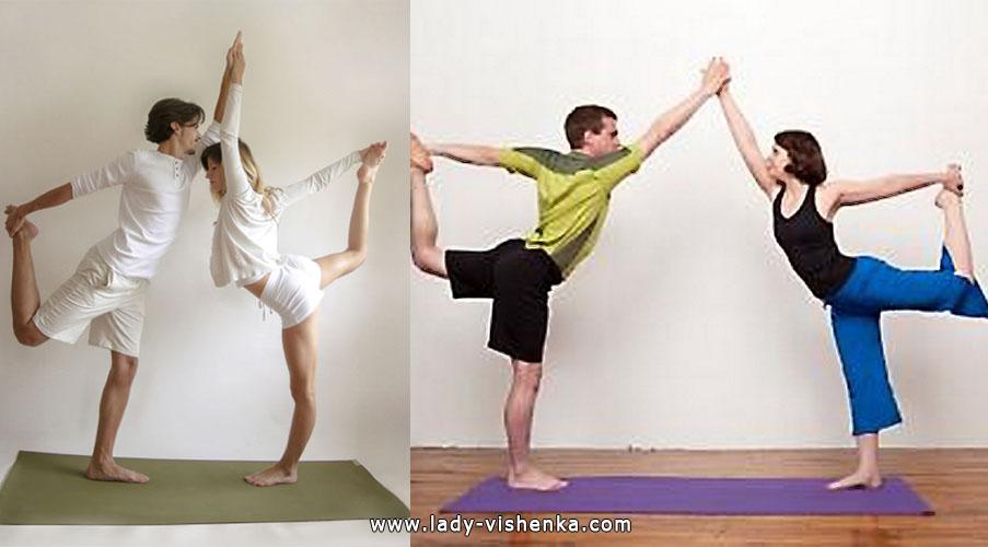 Йога для двоих - Двойной танцор