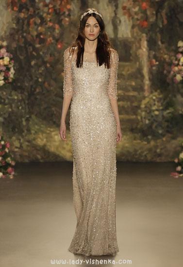 Прямое свадебное платье айвори