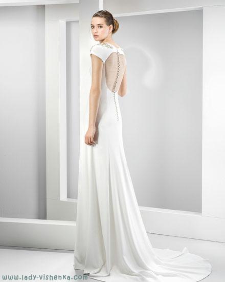 Простое свадебное платье Jesus Peiro