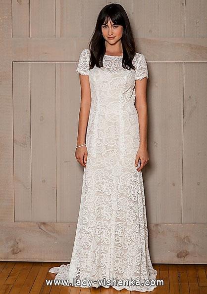 Прямое кружевное свадебное платье 2016 - David's Bridal