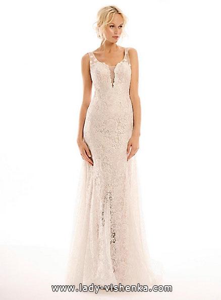 Длинное кружевное свадебное платье 2016 - Eugenia Couture