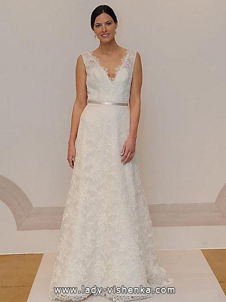 Длинное кружевное свадебное платье 2016 - Judd Waddell
